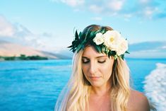 Related Articles:Creative Color Palettes for Your Destination Wedding… Kapalua Maui, Oahu, Simple Beach Wedding, Maui Weddings, Creative Colour, Destination Wedding Planner, Floral Crown, Vows, Headpiece