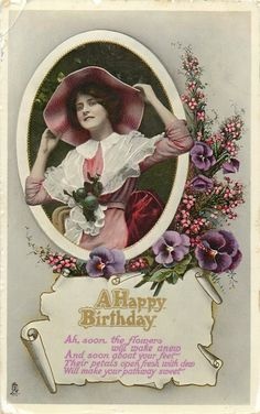 BIRTHDAY SERIES heather & pansies sds