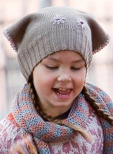 fi - Knit hat for a girl Baby Hats, Knitting Projects, Knitted Hats, Knit Crochet, Knits, Crocheting, Mini, Crochet, Ganchillo