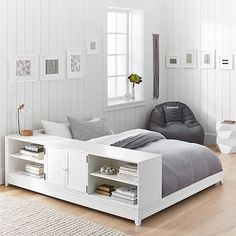 Ultimate Platform Bed + Cubby/ Cabinet Set #pbteen
