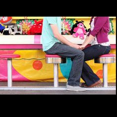 Sweet carnival engagement