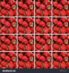 #Background made of #square shapes full of #strawberries