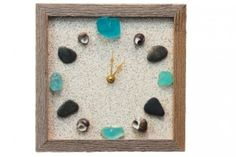 Seashell and Beach Glass Clock