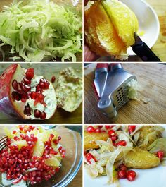 (4 servings)      Sadly this was the last of my pomegranates from the garden this year. It was wonderful in this delicious salad, its seeds ...