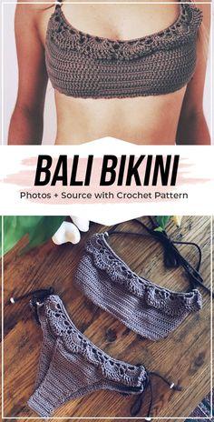 crochet Bali Bikini pattern - easy crochet bikini pattern for beginners Knitting TechniquesKnitting HatCrochet PatternsCrochet Ideas Bikini Crochet Patron, Crochet Bra, Crochet Bikini Pattern, Swimsuit Pattern, Crochet Bikini Top, Crochet Clothes, Easy Crochet, Free Crochet, Diy Crochet Swimsuit