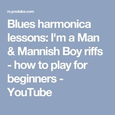 youtube com how to play harmonica