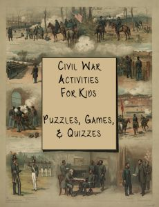 You can download a FREE pack of Civil War Activities for Kids from Write, Bonnie Rose! CivilWar Activities for Kids: Puzzles, Games, & Quizzesis a fun printable pack of 19 puzzles, games, and quizzes including history timelines, a Gettysburg Address fill-in, math decoding puzzles, a Venn diagram puzzle, matching, a printable board game, and …