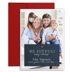 Three-Layer Holiday Photo Card With Grommet by Luscious Verde