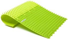 CuraCom Swedish Spike Mat. Mine's COMBI model that has both a hard and a soft part. And the color is dark green for those who might care. Don't waste money on those $1 spike mats that we've all seen, I bought one, and gave it away because it's a useless design as far as I'm concerned. YMMV.