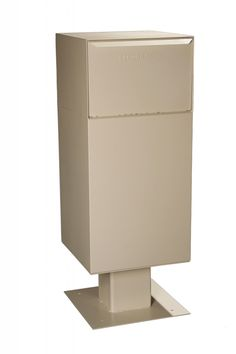 """Deposit Vault on Pedestal Dimensions—19"""" W x 40"""" H x 19"""" D Weight—86.5 Lbs. Capacity—Extra Large Maximum Package Size Dimensions: 16.9"""" W x 9.25"""" H x 12"""" D Model Number DVCS0020"""