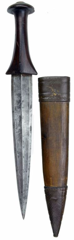 NORTH AFRICAN SUDANESE TRIBAL WAIST DAGGER. KNIFE. #8970