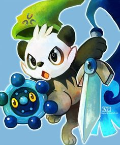 As most new Pokemon reveals go, Honedge has receive a healthy dose of fan art love (even though it was only revealed a day ago). Pancham Pokemon, Pokemon Gijinka, Fan Art Pokemon, Cute Pokemon, Pokemon Pokemon, Pokemon Images, Pokemon Pictures, Photo Pokémon, Pokemon Universe