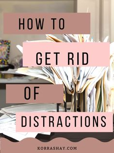 How to get rid of distractions and have efficient work days Social Media Apps, Alone Time, Good Environment, Brain Dump, Job Work, Study Habits, Way Down, Daily Reminder, Bullets