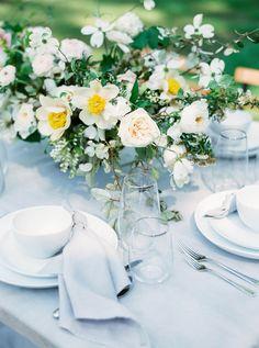 Organic florals: http://www.stylemepretty.com/little-black-book-blog/2015/10/05/organic-soft-blue-parisian-wedding-inspiration/ | Photography: Sally Pinera - http://sallypinera.com/