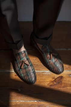 Woven loafers by Carlos Santos