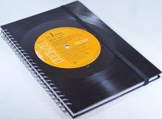 DIN A5 - Notizbuch Schallplatte Elvis upcycling  - ein Designerstück von Aurum bei DaWanda