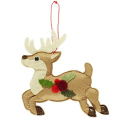 felt reindeer decoration