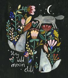 Wolves by Rosie Harbottle Stay wild moon child Art And Illustration, Art Inspo, Kunst Inspo, Stay Wild Moon Child, Wild Child, Art Populaire, Grafik Design, Art Design, Sketch Design