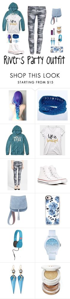 """""""River's Party Outfit"""" by ink-murder on Polyvore featuring Hollister Co., Current/Elliott, Converse, Steve Madden, Casetify, Outdoor Tech, Lacoste, Alexis Bittar, Tom Ford and Maybelline"""