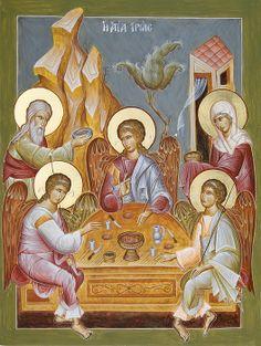 Holy Trintiy/ Hospitality of Abraham www.ikonographics.net