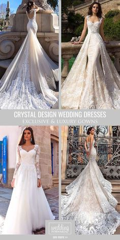 Crystal Design Wedding Dresses 2016 ❤ We fall in love at first sight with exclusive Crystal Design wedding dresses. See more: http://www.weddingforward.com/crystal-design-wedding-dresses/ #wedding #dresses