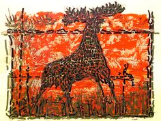 l'Original (The Moose) by Jean-Paul Riopelle, Limited Edition Print, Lithograph. Follow the biggest painting board on Pinterest: www.pinterest.com/atelierbeauvoir
