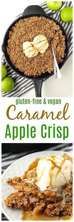 Vegan Caramel Apple Crisp
