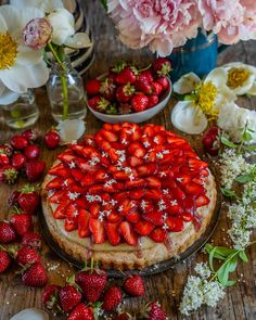 Protein Brownies, Protein Snacks, Kokos Desserts, Healthy Sweet Treats, Bruschetta, Baking Recipes, Acai Bowl, Camembert Cheese, Strawberry