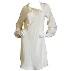 Spring 1977 Spiral Cut Halston Silk Dress