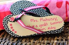 Pick a pair of flip flops and include this handmade card with a gift card for a pedicure. How cute is that?