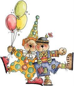 clowns.quenalbertini: Clowns with balloons