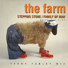 This perfectly sums up the look of the late Madchester scene, the coolest sheep ever in existence. Mad fer it.