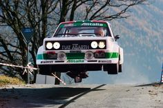 #Fiat #Abarth catching air. #Racing #Rallying #Speed #Power #Design #Class #Cool