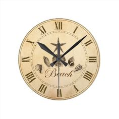 Beach Clock via Zazzle