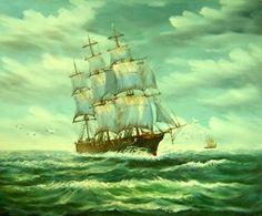 Dalgaların Arasında yağlı boya tablo