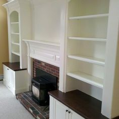 Bookcases Around Fireplace Family Room | Fireplace Mantle With Built In Bookcases Design Ideas, Pictures ...