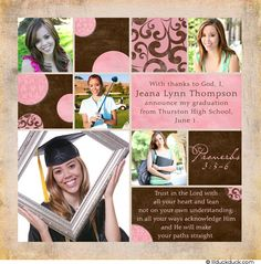 Graduation Invitations | for a matched set pair with our shabby chic graduate thank you cards