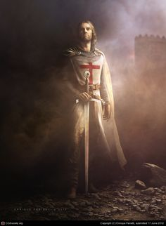 Discover Knight Templar Warrior T T-Shirt, a custom product made just for you by Teespring. - Beautiful and quality Knight Templar Warrior T. Knight In Shining Armor, Knight Armor, Crusader Knight, Medieval Knight, Medieval Fantasy, Vikings, Christian Warrior, Armadura Medieval, Holy Cross