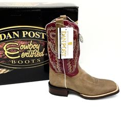 Dan Post Leather Sand/Raspberry Mystic Cowgirl . Dan Post Shoes Heeled Boots