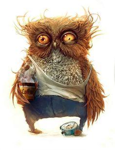 Coffee owl