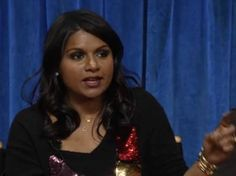 """Mindy Kaling: """"Now, racist-ly, I'm an Asian person. It comes easier to me than it might to you."""""""