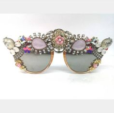 Your place to buy and sell all things handmade Grunge Hipster Fashion, Punk Fashion, Elton John Glasses, Rock Outfits, Emo Outfits, Festival Sunglasses, Hipster Accessories, Fashion Accessories, Queens Jewels