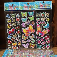 3D Sticker Cute Stickers Cartoon Anime Cute Stickers Rooms Home Decor Notebook Label Decoration toy Butterfly Cartoon Foam
