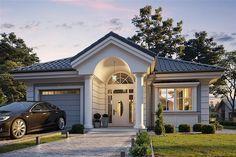 Projekt Dom na parkowej 7 A 131,87 m2 - koszt budowy - EXTRADOM St Jerome, Home Fashion, Wall Colors, House Design, Mansions, House Styles, Home Decor, Behance, Houses