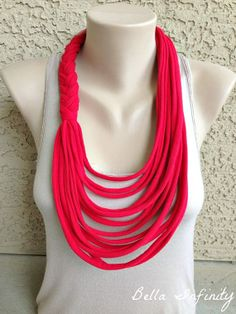 Infinity Braided Scarf UpCycled