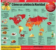 Infografía: Cómo se celebra la Navidad