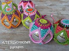 Crochet pattern CHRISTMASBALL STAR by ATERGcrochet от ATERGcrochet