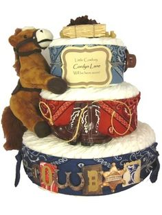 Someone please make this awesome western baby shower cake for us!