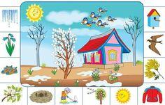 Speech Activities, Kids Learning Activities, Montessori Activities, Spring Activities, Toddler Learning, Weather For Kids, Seasons Activities, English For Beginners, Kids Corner