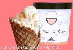 Peach White Zinfandel Mercer's Wine Ice Cream